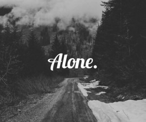alone, black, and forest image