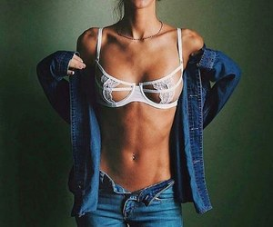 girl, bra, and fitness image