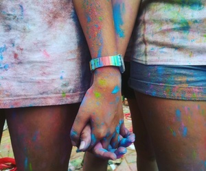 colors, frienship, and girls image