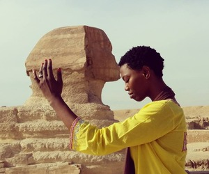 yellow, egypt, and sphinx image