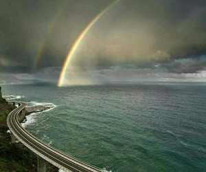 rainbow, nature, and ocean image