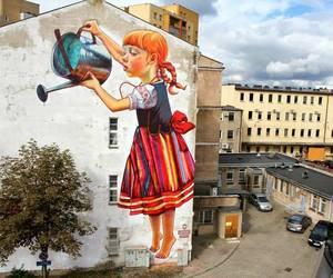 art, street art, and tree image