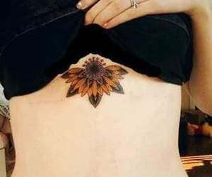 sunflower, tattoo, and yellow image