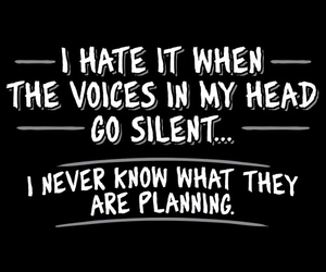 silent, voices, and funny image