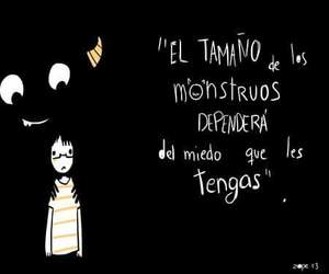 monster, fear, and frases image