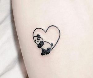 panda, tattoo, and animal image