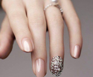 nails, ring, and nail art image