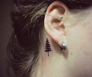 pine tree, small, and tattoo image