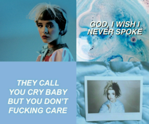 blue, picsart, and cry baby image