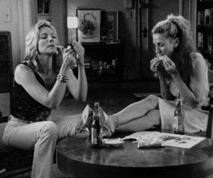 sex and the city, smoke, and Carrie Bradshaw image