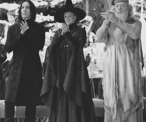 harry potter, dumbledore, and severus snape image