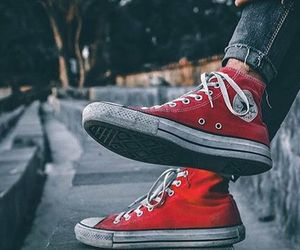 converse, red, and red converse image