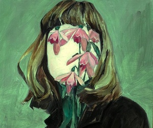 art, helene delmaire, and flowers image
