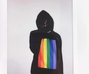the 1975, matty healy, and rainbow image