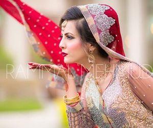 bride, pakistani, and hindi image