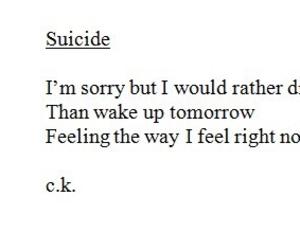 suicide, sad, and depression image