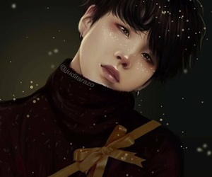 suga, bts, and fanart image