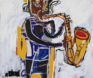 art, blues, and horn image