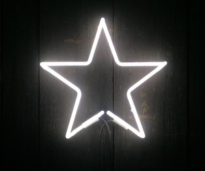 stars, neon, and white image