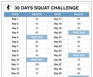 squat challenge, 30 day squat challenge, and squat workout image