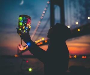 lights, amazing, and bridge image