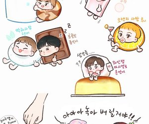exo, fanart, and cute image