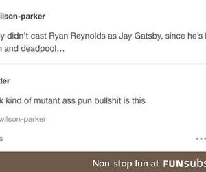 deadpool, pun, and ryan reynolds image