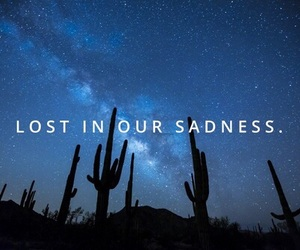lost, sadness, and stars image