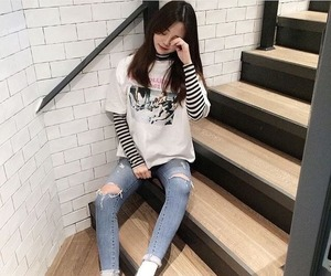 girl, asian, and kfashion image