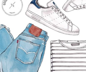 adidas, design, and jeans image