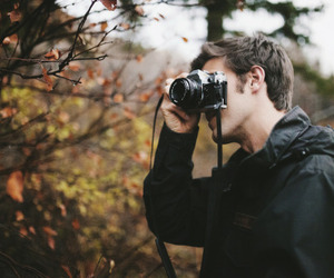 boy, camera, and vintage image