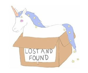 unicorn, lost, and found image