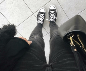 converse, converse all star, and denim image