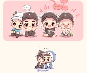 fanart, Chen, and exo image