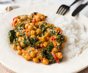 coconut, curry, and spinach image