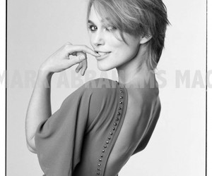 black and white and keira knightley image