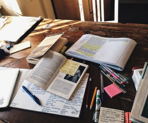 study, book, and school image