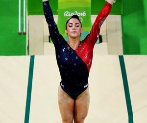 gymnast, gymnastics, and olympics image