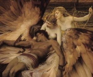 angel, sad, and art image
