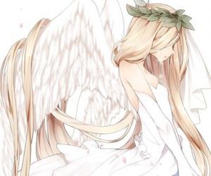 anime, angel, and sad image
