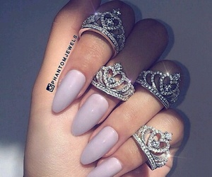 beauty, hands, and rings image