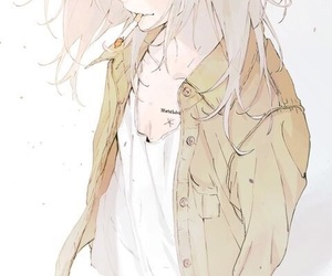 anime, girl, and heart image