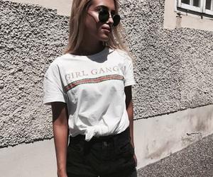 girl, shirt, and sunglasses image