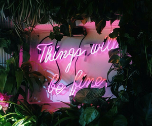 light, neon, and quote image