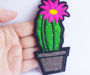 cactus, patch, and trendy image