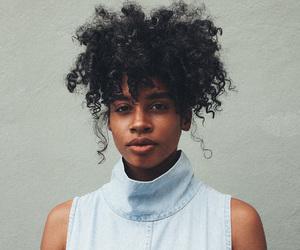 brown skin, curls, and natural hair image