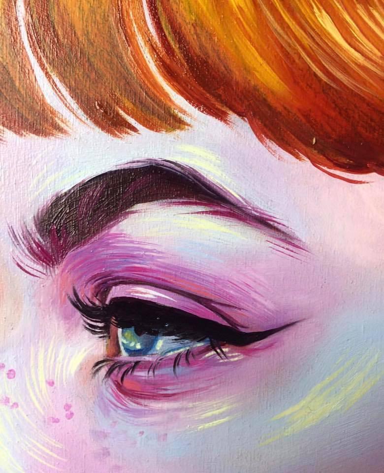 eye redhead eybrow image