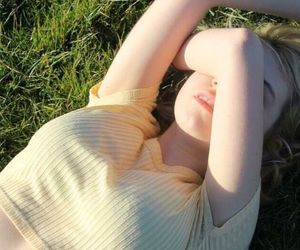 aesthetic, grass, and blonde image