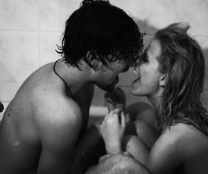 black and white, girl, and lovers image
