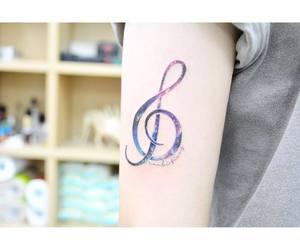 galaxy, music, and tattoo image